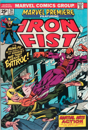 Marvel Premiere #20 (January, 1975): Iron Fist. Click for value