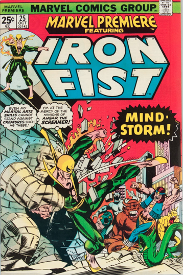 Marvel Premiere #25 (October, 1975): Last Iron Fist in title. Click for values