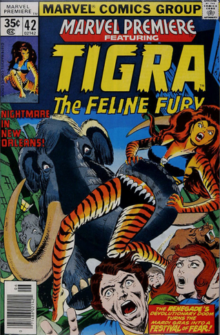 Marvel Premiere #42 (June, 1978): Tigra. Click for value