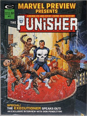 Marvel Preview #2, Origin of Punisher. Click for values