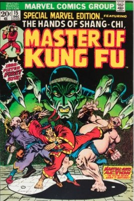 First Appearance, Shang Chi (Master of Kung Fu), Special Marvel Edition #15, Marvel Comics, 1973. Click for value