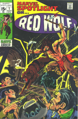 Marvel Spotlight #1, November, 1971: Neal Adams Cover; First Appearance of Red Wolf. Click for value