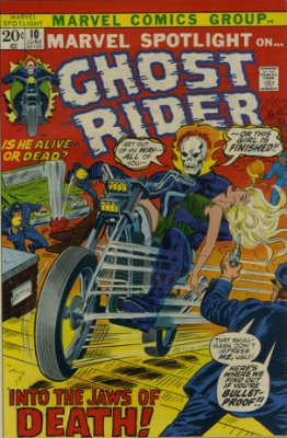 Marvel Spotlight #10, June, 1973: Ghost Rider. Click for value