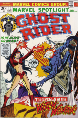 Marvel Spotlight #11, August, 1973: Ghost Rider. Click for value