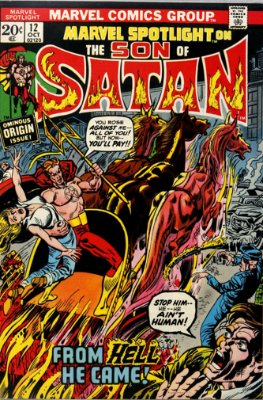 Marvel Spotlight #12, October, 1973: Son of Satan. Click for value