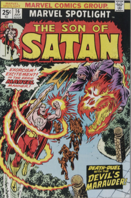 Marvel Spotlight #16, July, 1974: Son of Satan. Click for value