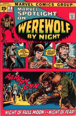 Marvel Spotlight #2, January, 1972: Werewolf By Night; First Appearance. Click for value