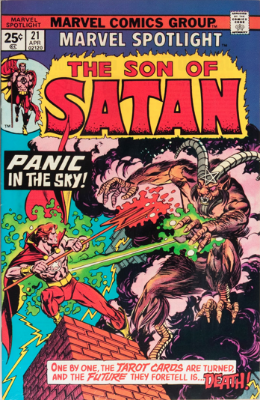 Marvel Spotlight #21, April, 1975: Son of Satan. Click for value