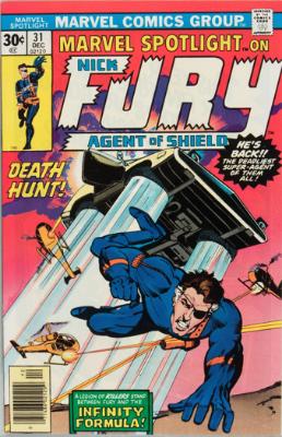 Marvel Spotlight #31, December, 1976: Nick Fury, Agent of S.H.I.E.L.D. Click for value