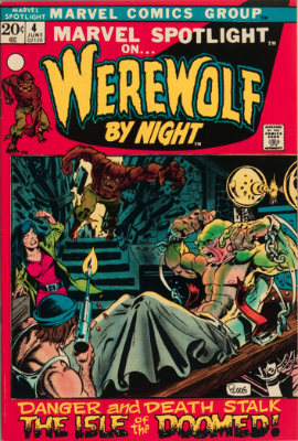Marvel Spotlight #4, June, 1972: Werewolf By Night. Click for value