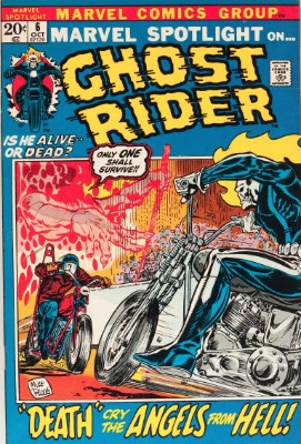 Marvel Spotlight #6, October, 1972: 2nd Appearance of Ghost Rider. Click for value