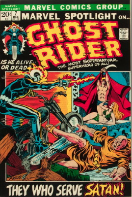Marvel Spotlight #7, December, 1972: Ghost Rider. Click for value
