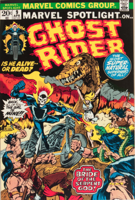 Marvel Spotlight #9, April, 1973: Ghost Rider. Click for value