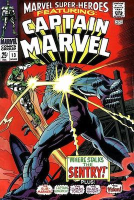 Origin and First Appearance, Carol Danvers (Ms. Marvel), Marvel Super Heroes #13, Marvel Comics, 1968. Click for value