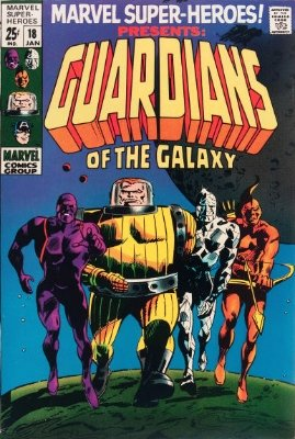 Marvel Super Heroes #18 (Jan 1969): Origin and First Appearance, Guardians of the Galaxy. On the Silver Age Comics top 50 list. Click for values