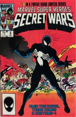 Marvel Super Heroes Secret Wars #8 (December, 1984): Origin of alien symbiote and its first encounter with Spider-Man. Click for values