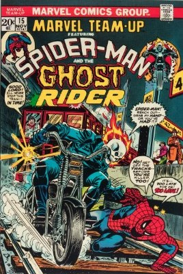 Marvel Team-Up #15 (November 1973): Spider-Man Meets Ghost Rider. Click for value