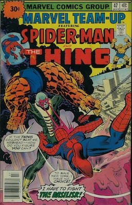 Marvel Team-Up #47 30c Price Variant Edition July, 1976. Price in Starburst