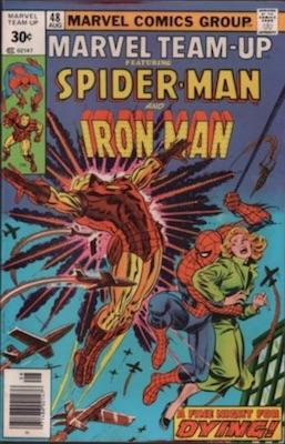 Marvel Team-Up #48 30 Cent Variant April, 1976. Square Price Box