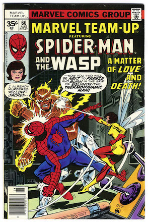 Marvel Team-Up #60: Spider-Man teams up with Wasp Marvel Comics. Click for values