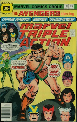 Marvel Triple Action #30 30c Variant July, 1976. Starburst Flash