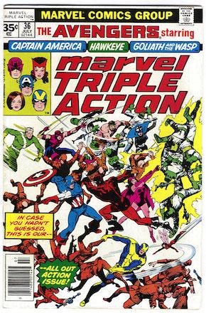 Marvel Triple Action #36 35 Cent Variant