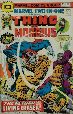 Marvel Two-In-One #15 30c Price Variant May, 1976. Price in Starburst