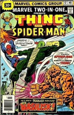 Marvel Two-In-One #17 30 Cent Variant July, 1976. Starburst Price Flash