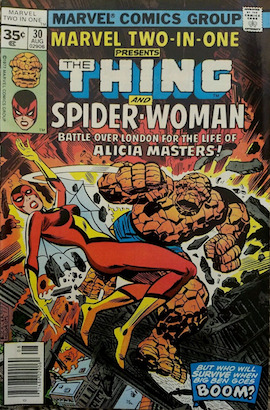 Marvel Two-in-One #30 35c Price Variant