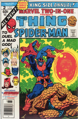 Marvel Two-in-One Annual #2: Thanos cover. Click for values