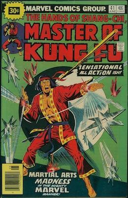 Master of Kung-Fu #41 30 Cent Variant June, 1976. Price in Starburst
