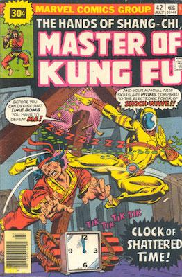 Master of Kung-Fu #42 Marvel 30c Price Variant July, 1976. Starburst Flash