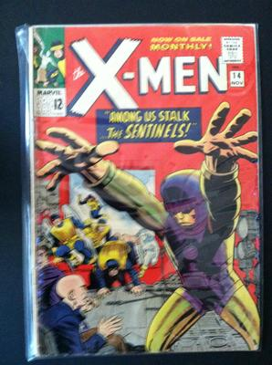X-Men #14 value: hard to see from this photo, maybe a 6.0 and worth about $130