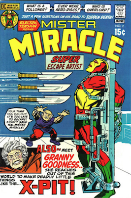 Mister Miracle #2: 1st appearance of Granny Goodness. Click for values.