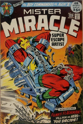 Origin and First Appearance, Mad Harriet, Mister Miracle #6, DC Comics, 1972. Click for value
