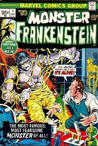 vintage comic books from the Bronze age: Monster of Frankenstein 1