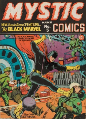 Mystic Comics #5: Origin and First Appearance, Black Marvel