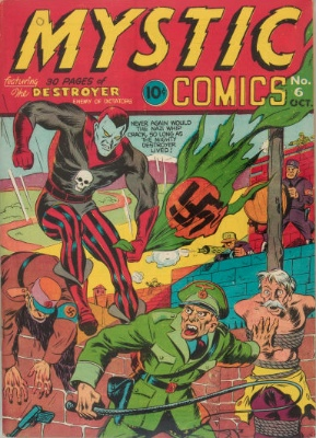 Origin and First Appearance, Destroyer, Mystic Comics #6, Timely Comics (Marvel Comics), 1941. Click for value