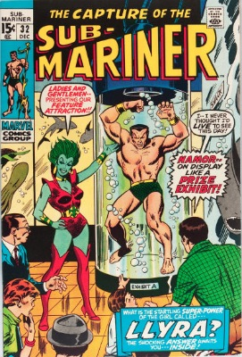 Origin and First Appearance, Llyra, Sub-Mariner #32, Marvel Comics, 1970. Click for value