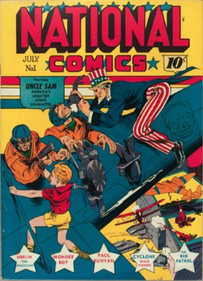 National Comics #1: First Appearance, Uncle Sam. Click for values