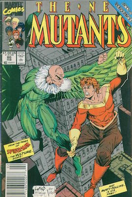 New Mutants #86: First Cameo Appearance of Cable; First Rob Leifeld Art. Click for values