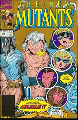 New Mutants #87 Second Printing: Gold Cover, Blacked Out Barcode