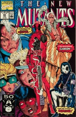 New Mutants #98 (Marvel, 1991): First Appearance of Deadpool, Gideon and Domino (Copycat). Click for values