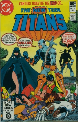 New Teen Titans #2 (December 1980): First Appearance, Deathstroke. Click for value