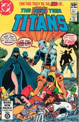New Teen Titans #2 (December, 1980): First Appearance, Deathstroke the Terminator. Click for value