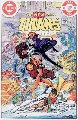 New Teen Titans Annual #1 (1982): Omega Men; Starfire vs. Blackfire. Click for value