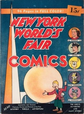 New York World's Fair 1939: First Sandman appearance in comics. Click for values