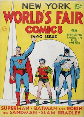 New York World's Fair Comic (1940). Rare comic with Superman and Batman on the cover