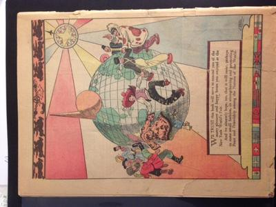 New York World's Fair Comics, 1939, Coverless: comic back
