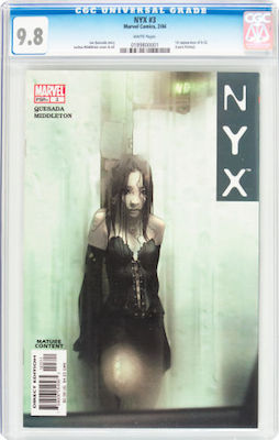 When buying a copy of NYX #3, avoid CGC Signature Series. Stick to 9.8 with white pages. Click to buy